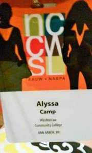 Our name badges- I was proudly sporting WCC