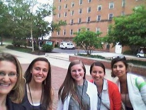 . From the left to the right, me, Kelsey Fraley from Goshen Indiana, Elizabeth DeGraaf from Spring Arbor University, Morgan Lee from Spring Arbor University, and Yuri from Jackson College in Jackson, MI.